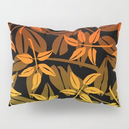 red yellow orange Leaves Pattern Graphic #leaves #society6 Pillow Sham