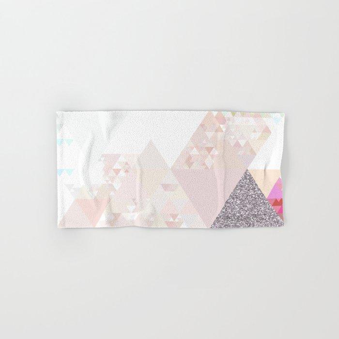 Triangles In Glittering Rose Quartz Pink Glitter Triangle Pattern