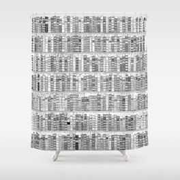 The Library II Shower Curtain