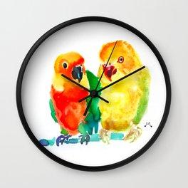 Watercolor 5 Wall Clock