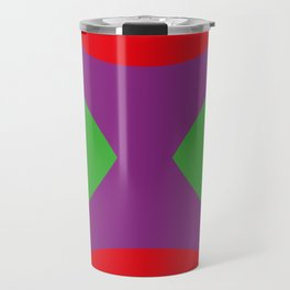 This is a Mask in a black background, with two emerald eyes looking at you in a creepy way. Travel Mug