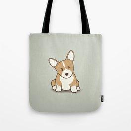 Welsh Corgi Puppy Illustration Tote Bag