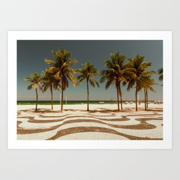 Copacabana Palm Art Print