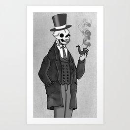 Undead Gentleman Art Print