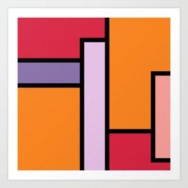 Hot Mondrian Art Print
