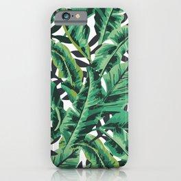 Tropical Glam Banana Leaf Print iPhone Case