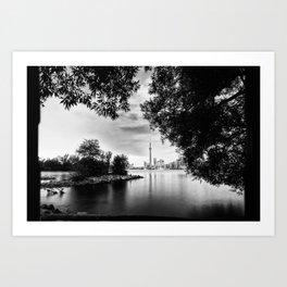Toronto Black and White Art Print