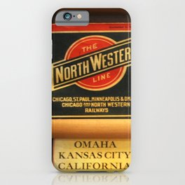 Original Early 1900s American Train Time Tables (RARE) iPhone Case