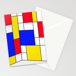 Mondrian in 3-D Stationery Cards
