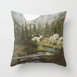 Dream Lake Creek Throw Pillow
