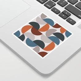 Mid Century Modern Geometric 25 Sticker