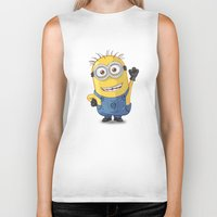 phil jones Biker Tanks featuring Minion - Phil by Konstantin Veter