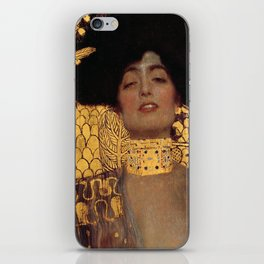 JUDITH AND THE HEAD OF HOLOFERNES - GUSTAV KLIMT iPhone Skin