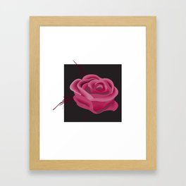 Pink Hue Single Rose Framed Art Print