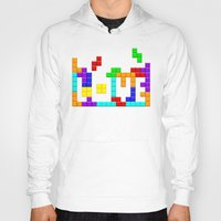 tetris Hoodies featuring Tetris Love by Wheel of Fortune