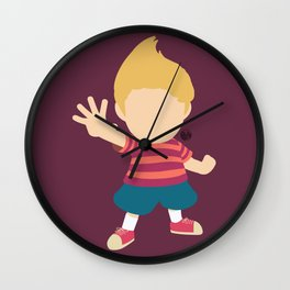 Lucas(Smash)Red Wall Clock