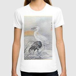 12,000pixel-500dpi - Kawanabe Kyosai - Cranes In Marsh - Digital Remastered Edition T-shirt