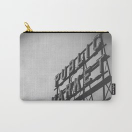 Seattle Pike Place Public Market Black and White Carry-All Pouch