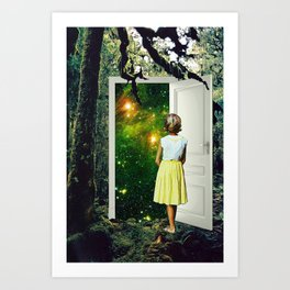 Portal in the Woods Art Print