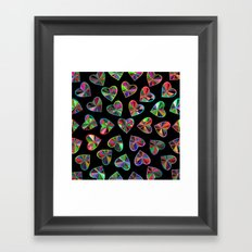 Hearts of glass Framed Art Print