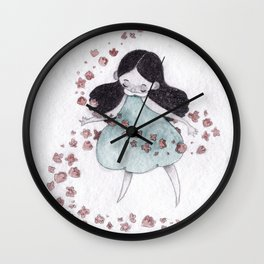 Flower hurricane Wall Clock