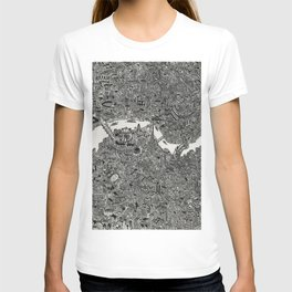 London map print T-shirt
