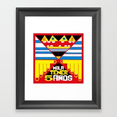 Mola Tener 5 Años / It´s Cool to be 5. Framed Art Print