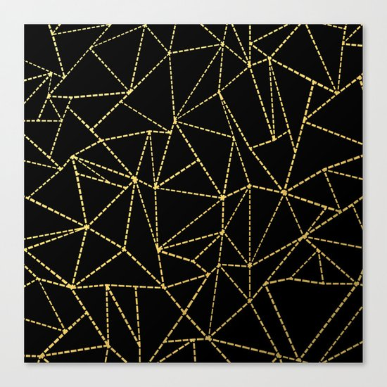 Ab Dotted Gold Canvas Print