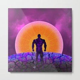 Black Panther Sunset Metal Print