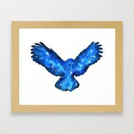 Space Owl | Double Exposure Owl | Owl Constellation | Cosmic Owl Framed Art Print
