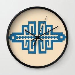 Blue Inca Wall Clock