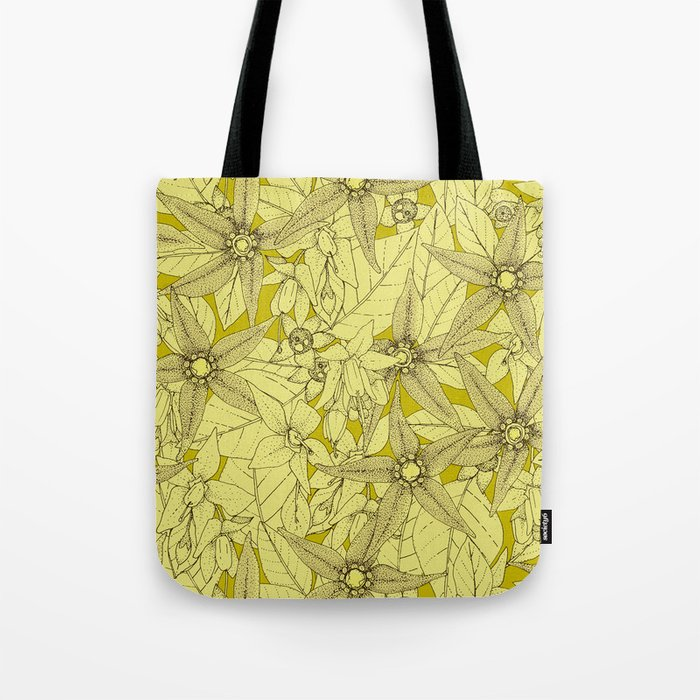 deadly nightshade chartreuse Tote Bag