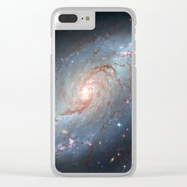 Stellar Nursery NGC 1672. Spiral galaxy in the constellation Dorado Clear iPhone Case