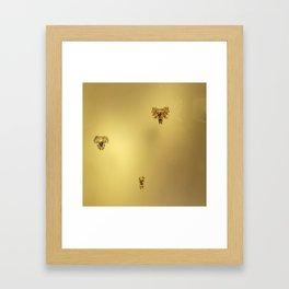Gold Demons Framed Art Print