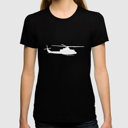 UH-1 Military Helicopter Silhouette T-shirt