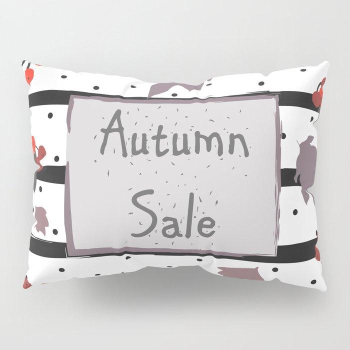 Autumn Sale. Advertising Card Pillow Sham