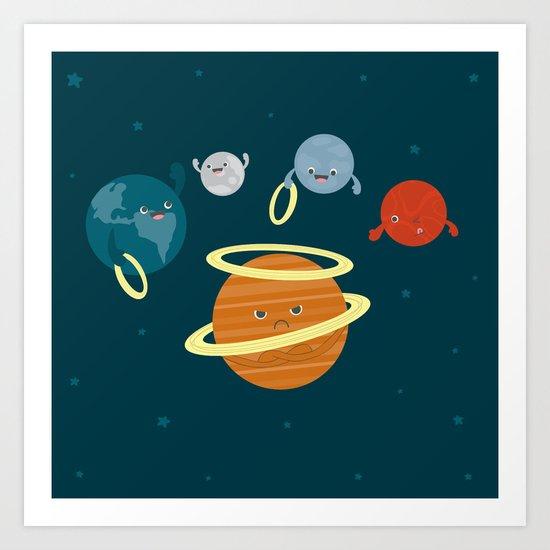 Saturn Ring Toss Art Print