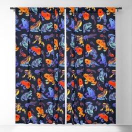 Poison dart frogs - dark Blackout Curtain