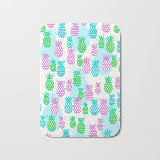 Tropical pineapples Bath Mat