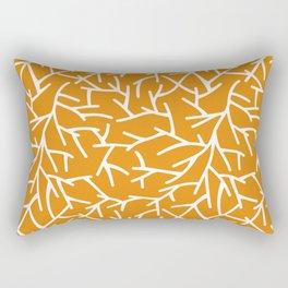 Branches - Orange Rectangular Pillow