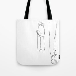 Travel Rabbit Puttin' Small Dogs Out Of Style Tote Bag