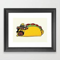 Pug Taco Framed Art Print