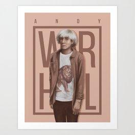 Portrait of AndyWarhol Art Print