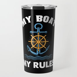 Funny Boating Travel Mug