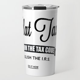 Flat Tax Travel Mug