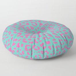 Leopard skin teal Floor Pillow