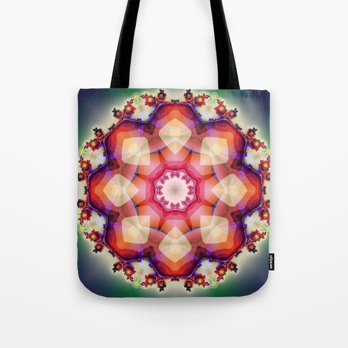 Decorative mandala abstract with translucent colors Tote Bag
