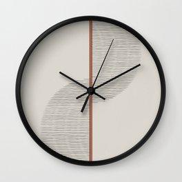 Geometric Composition II Wall Clock