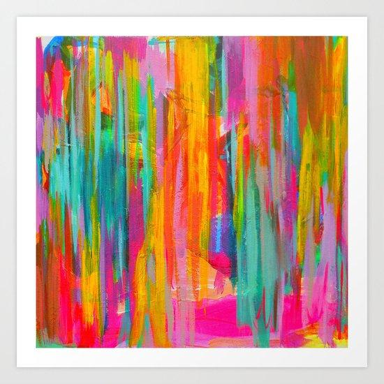 Neon Double Abstract Art Print