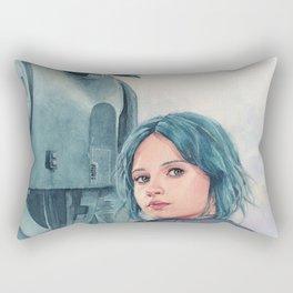 Jyn Erso and K-2so Rectangular Pillow
